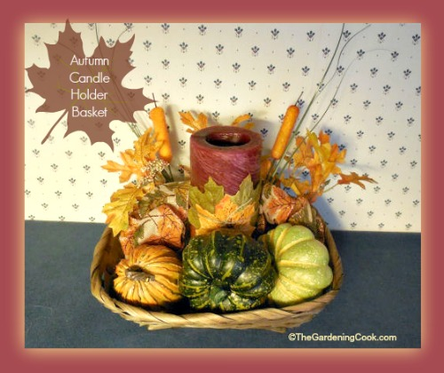 Autumn Candle Holder Basket