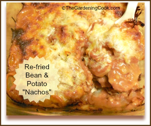 Re-fried beans and Potato