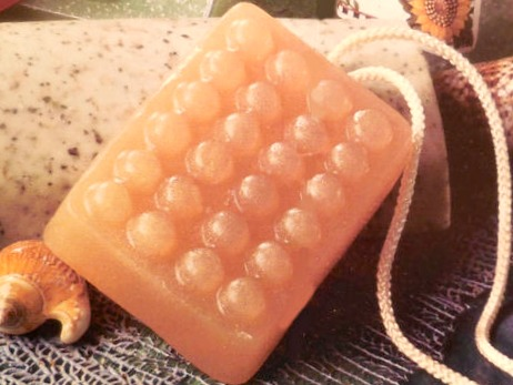 DIY Apricot Soap on a Rope