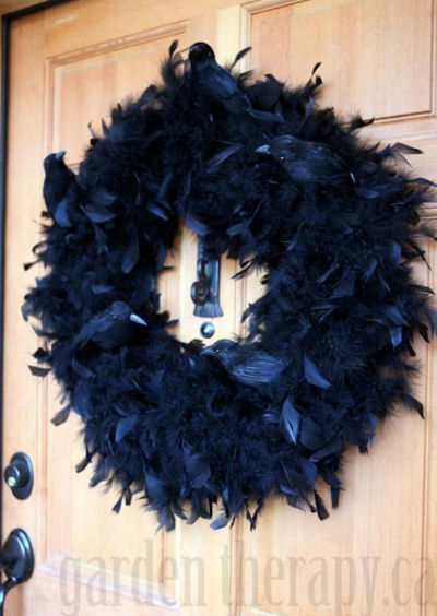 Black feather boar wreath the crows