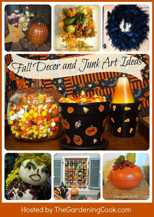 Junk art and home decor fall projects round up the Home decorating ideas using junk