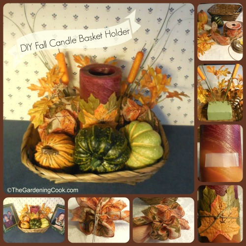DIY Fall Candle Basket Holder Project