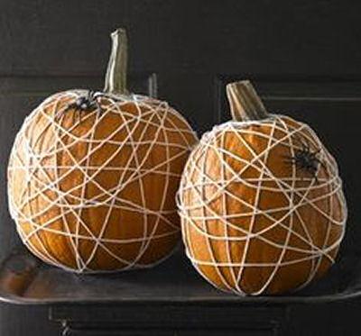 Twine wrapped pumpkins