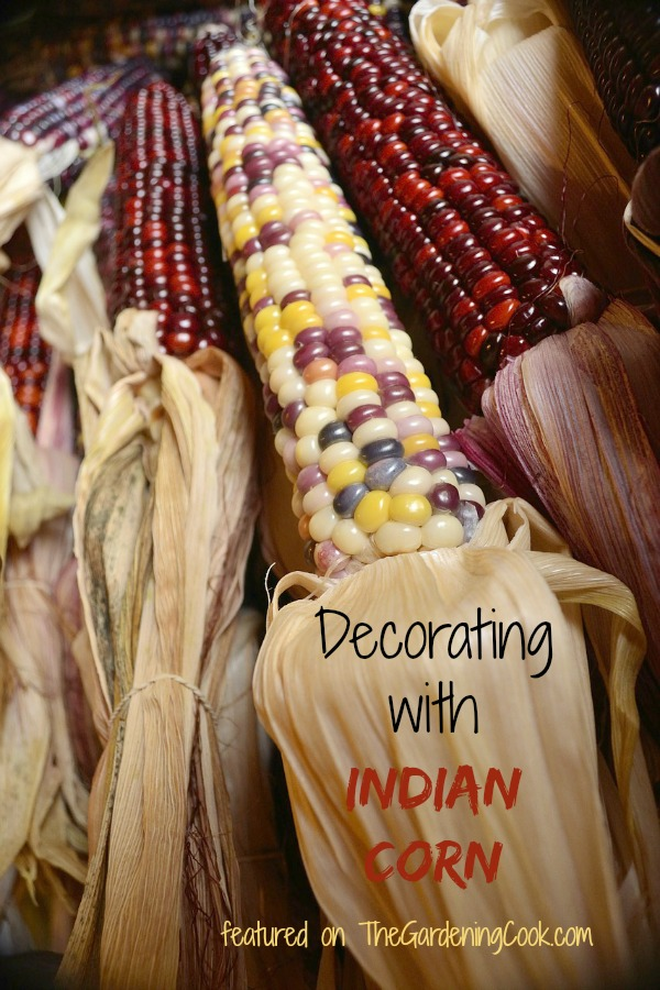 Lots of ideas for decorating with Indian Corn