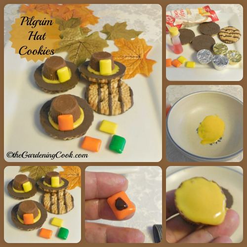 Pilgrim Hat cookies DIY Project for Thanksgiving