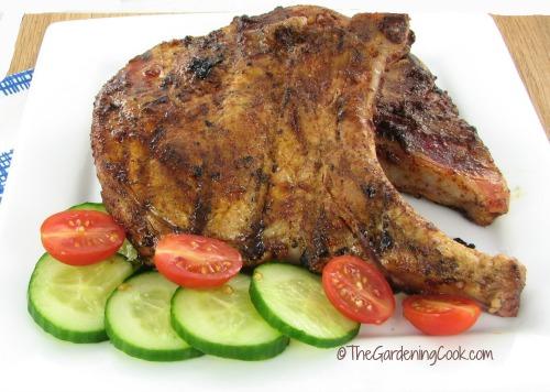 Seasoned Grilled Pork Chops