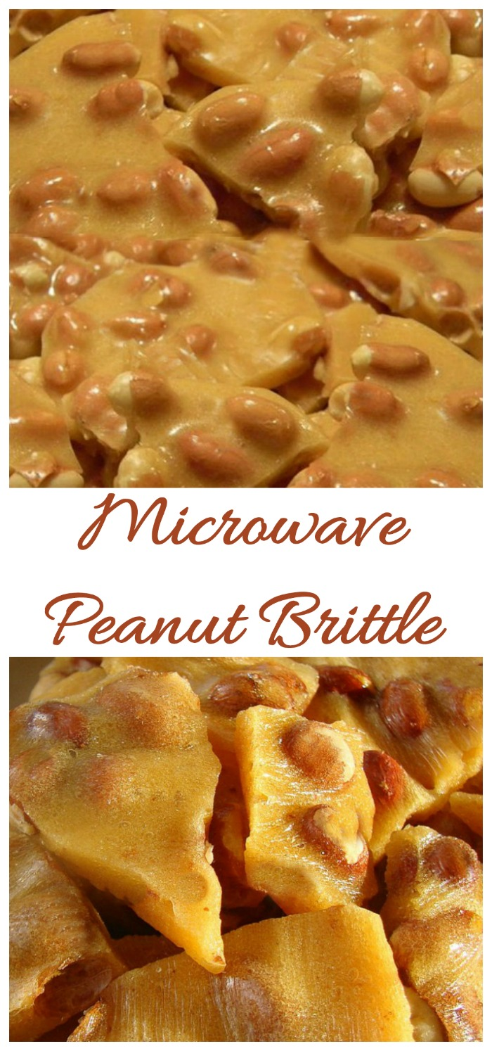 This microwave peanut brittle is ready to set in less than 20 minutes and tastes amazing.