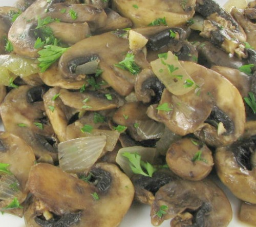 Mushrooms with garlic and brandy