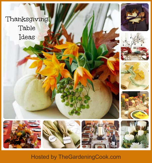 Round up of 9 Thanksgiving centerpiece and place setting ideas.