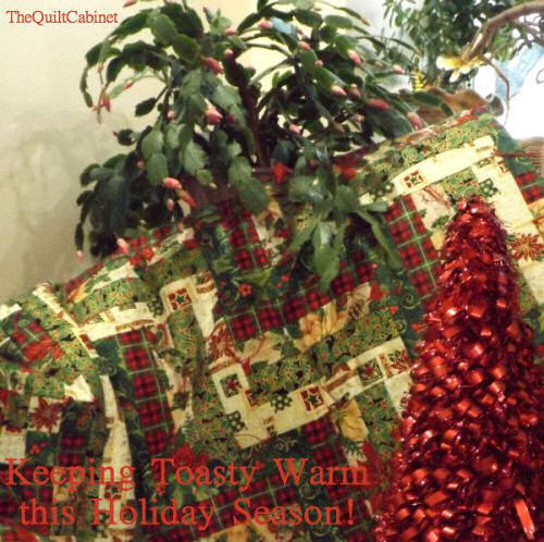 Holiday festive Quilt from The quilt cabinet on Facebook.