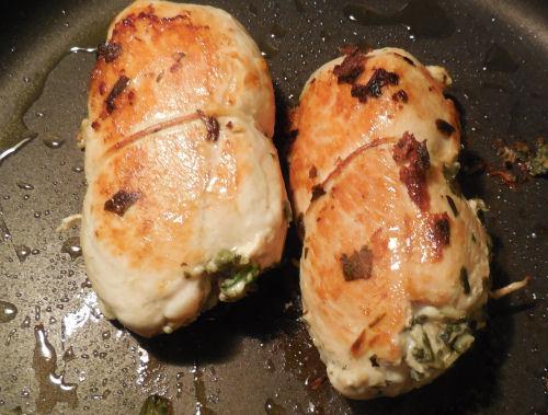 heated chicken