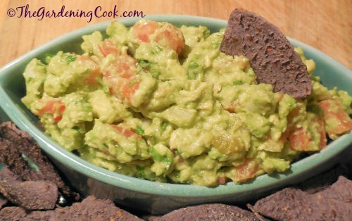 Guacamole, a popular party appetizer