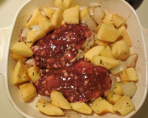 chicken with raspberry mustard marinade