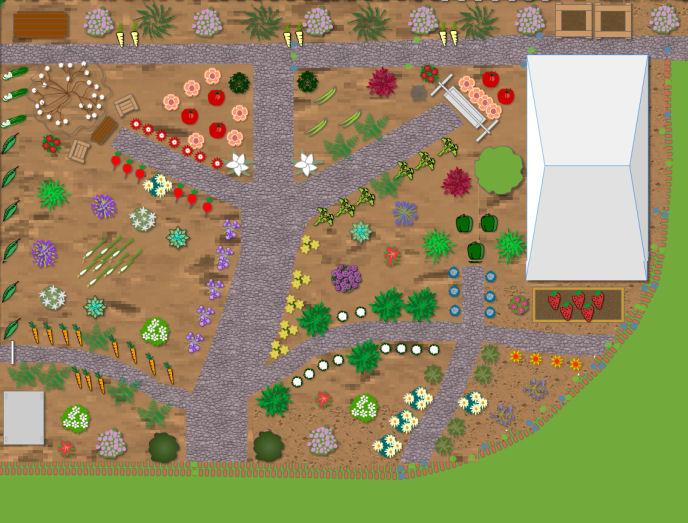 Garden bed plan