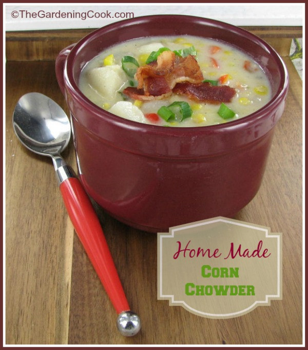 Home made potato and corn chowder
