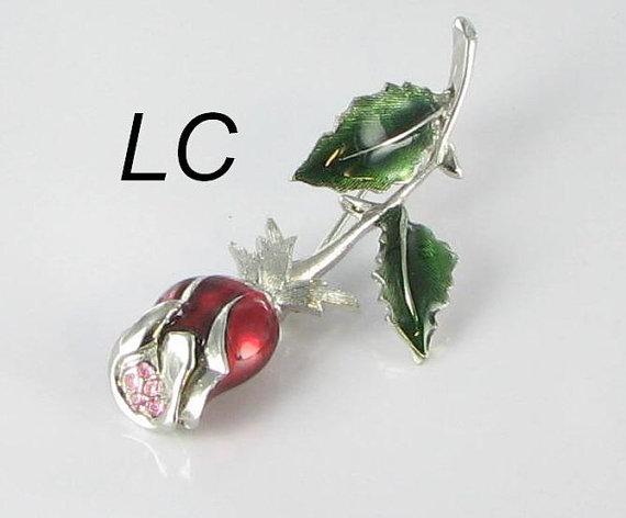 Liz Claiborne rose pin