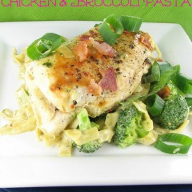 Slmmmed Down Chicken and Broccoli Pasta - easy and delcious