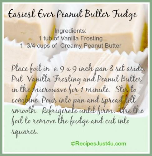 Easiesst ever peanut butter fudge. Only 2 ingredients!