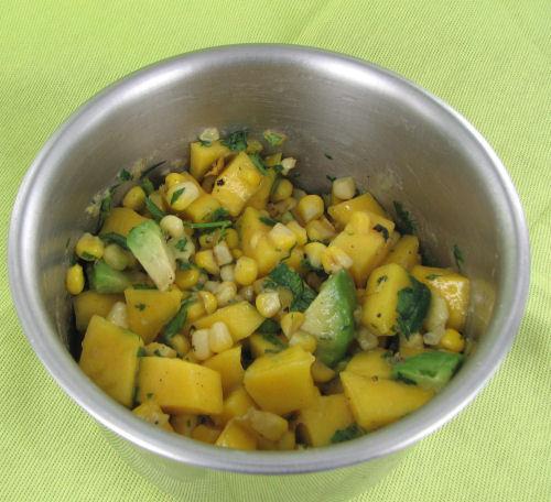 corn, mango and avocado salsa