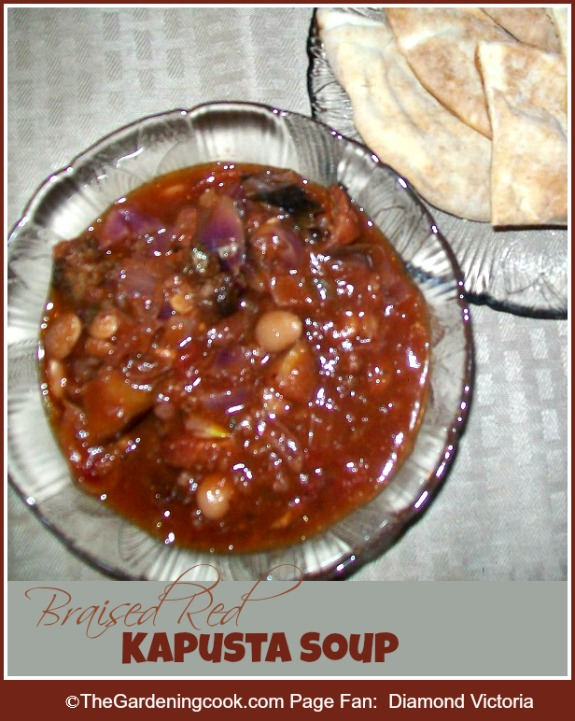 Braised Red Kapusta Soup