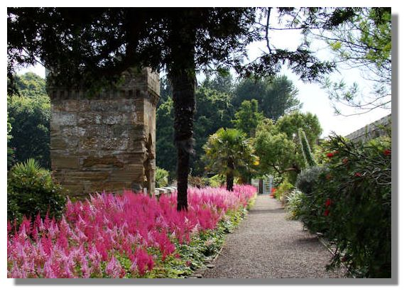 Astible as a border in Culzean Castle in Ayrshire, Scotland.