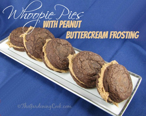 Whoopie Pies with Peanut buttercream filling