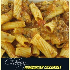 Cheesy Hamburger and Mushroom Casserole
