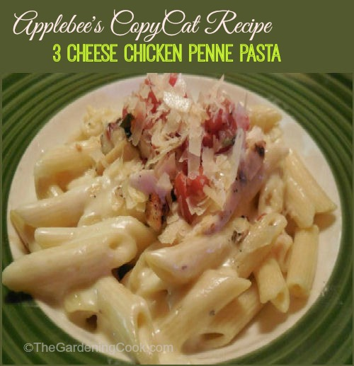Applebee's copy cat recipe - 3 cheese chicken penne pasta with Alfredo sauce