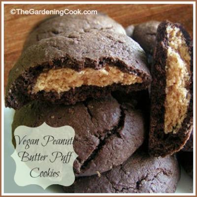 Vegan peanut butter puff cookies