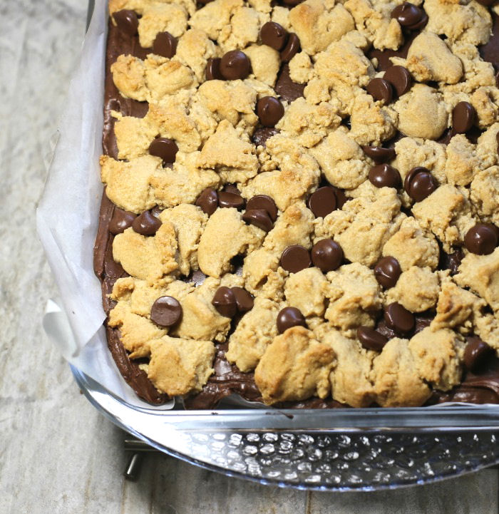 Cooked peanut butter layer bars