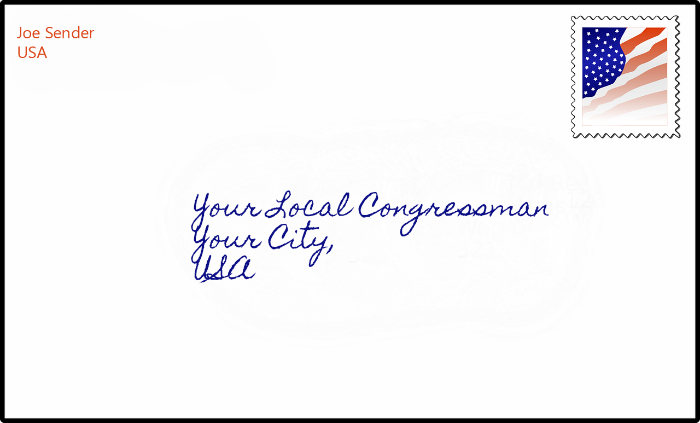 Letter to your congressman