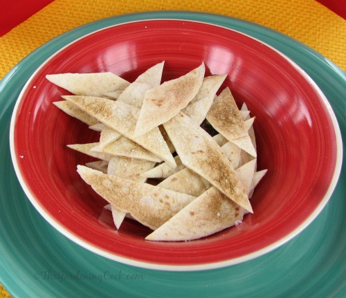 DIY homemade tortilla chips made in the microwave