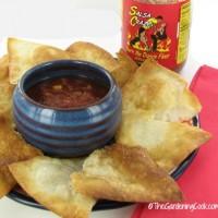 homemade tortilla chips and salsa