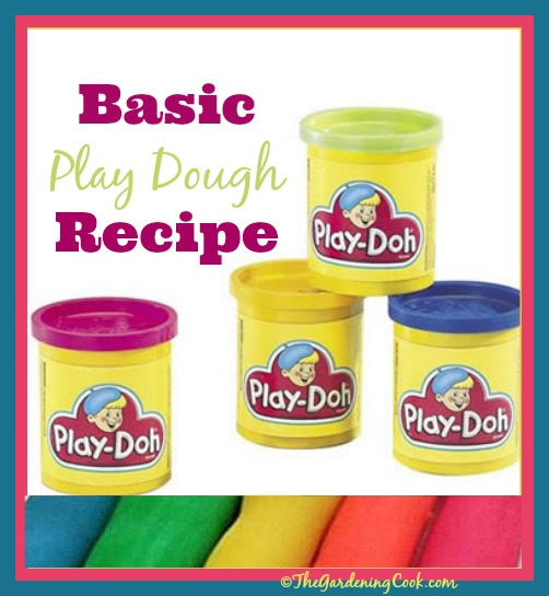 Basic Playdough recipe - why buy when it is so easy to make and smells great?