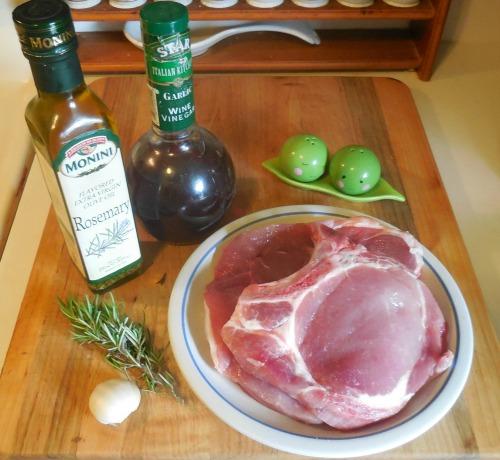 Ingredients for Garlic Rosemary pork chops
