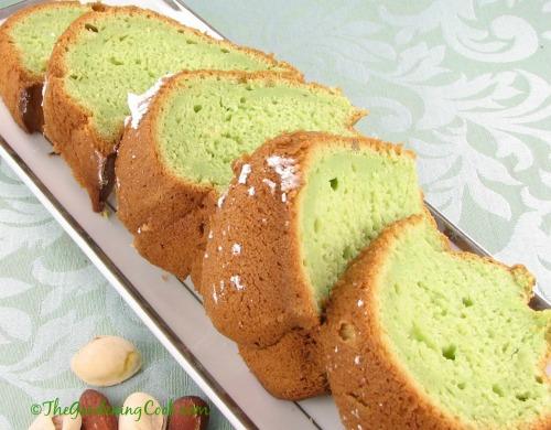Pistachio almond bundt cake