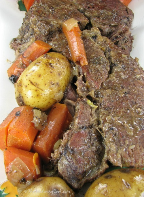 This slow cooker pot roast is fork tender and so delicious