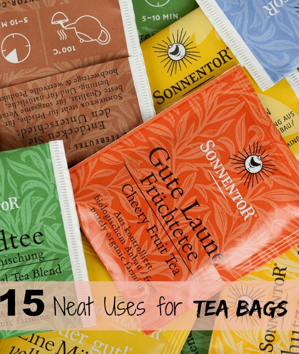 15 ingenious uses for using tea bags in the home and garden - thegardeningcook.com/tea-bags