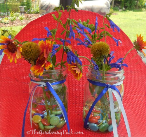 Fill with water and add fresh flowers