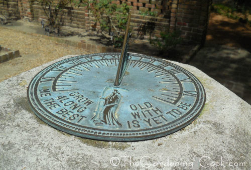 Sundial in the Elizabethan Gardens in Manto, NC