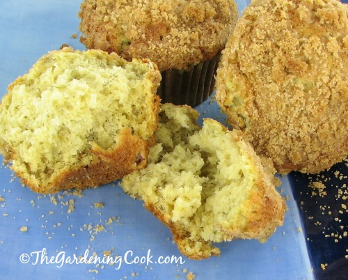 Yummy banana muffins with brown sugar streudel topping. Yum! Get the recipe: thegardeningcook.com/banana-muffins-brown-sugar-strudel-topping