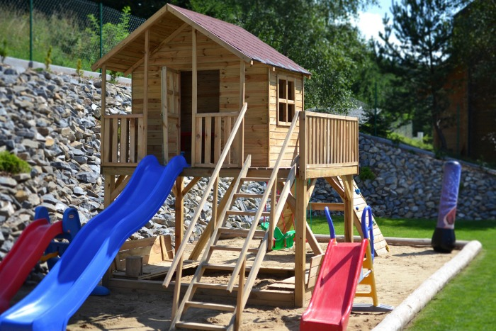 Play ground areas in sunny spots won't attract fleas as readily