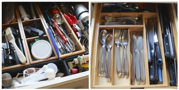 Expandible cutlery drawer liners from Costco.