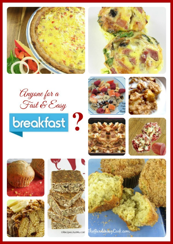 10 Fast and Easy Breakfasts - thegardeningcook.com/easy-breakfast-recipes