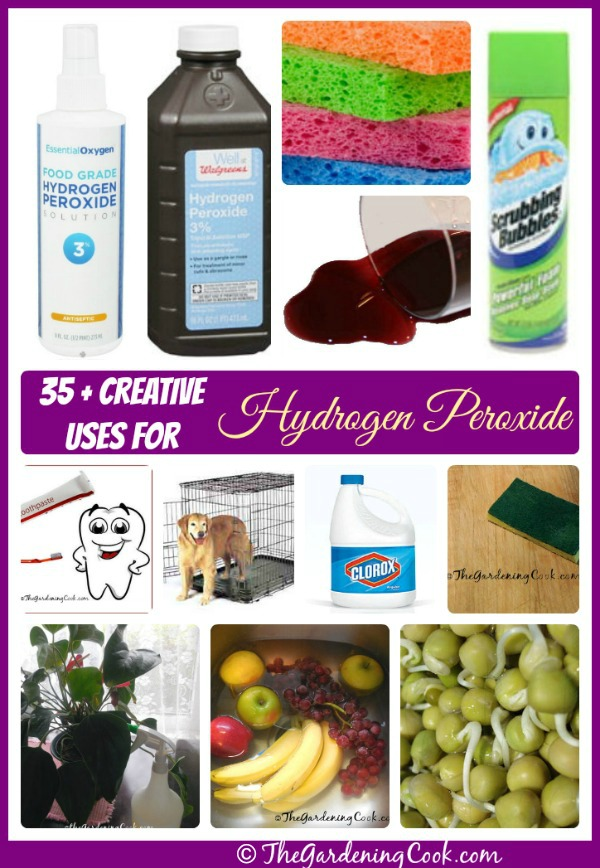 35 Creative Uses for Hydrogen peroxide: thegardeningcook.com/