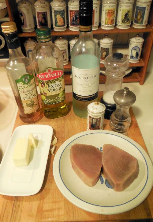 Ahi Tuna ingredients
