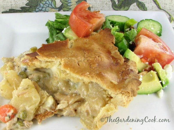 Traditional chicken pot pie. Hard to believe this is mainly a crock pot recipe!