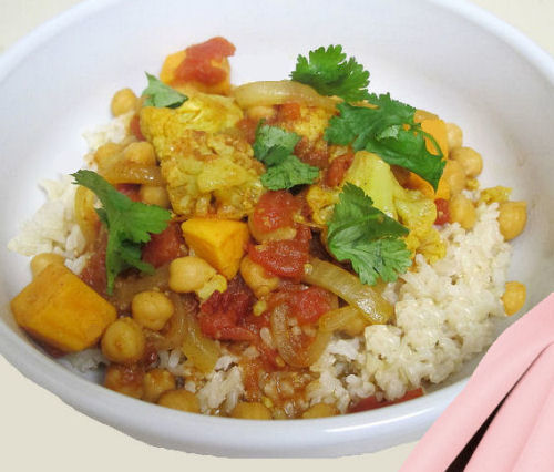 Crock pot vegetable curry