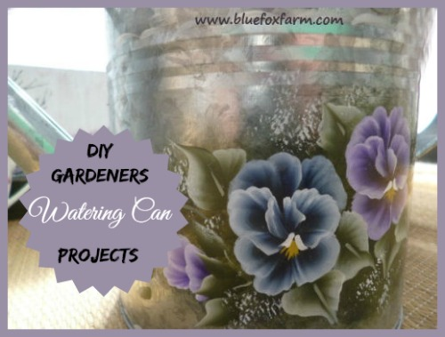 DIY Gardeners Share their favorite ways to use watering cans as garden art