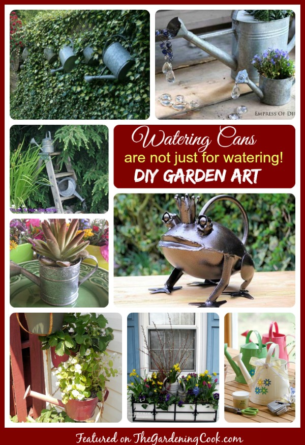 Watering Can garden art and planters add the perfect decorative touch to any garden